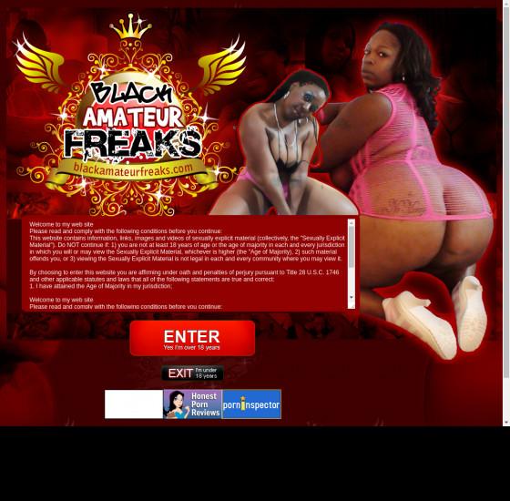 black amateur freaks
